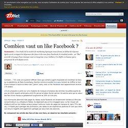 Combien vaut un like Facebook ?