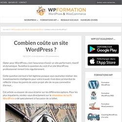 Combien coûte un site WordPress ? Chiffrez-le en ligne !