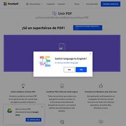 Unir PDF - Combina tus archivos PDF online y gratis