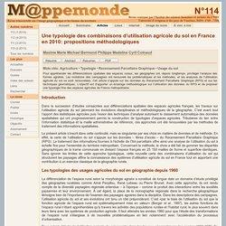Une typologie des combinaisons d'utilisation agricole du sol en France en 2010: propositions méthodologiques