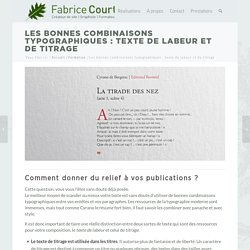 Labeur ou titrage : les bonnes combinaisons typographiques