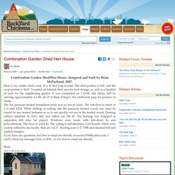 Combination Garden Shed Hen House