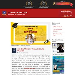 Combination of MBA and Law degree