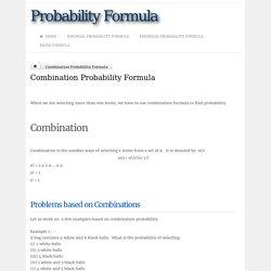 Combination Probability Formula