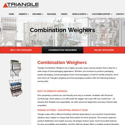 Triangle Combination Weighers and Weighing Manufacturers