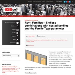 Revit Families – Endless combinations with nested families and the Family Type parameter