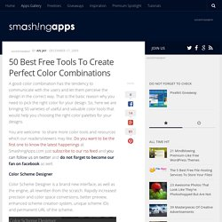 50 Best Free Tools To Create Perfect Color Combinations | Free and Useful Online Resources for Designers and Developers - StumbleUpon