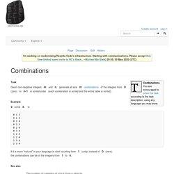 Combinations - Rosetta Code