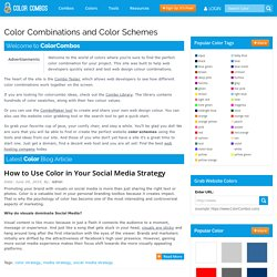 Color Combinations | Color Schemes | Color Palettes