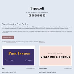 Caslon Font Combinations + Similar Fonts → Typewolf