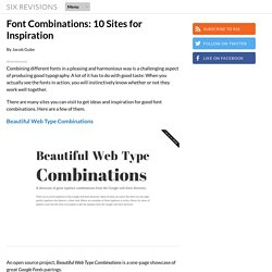 Font Combinations: 10 Sites for Inspiration