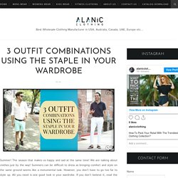 3 Outfit Combinations Using The Staple in Your Wardrobe - Alanic Clothing