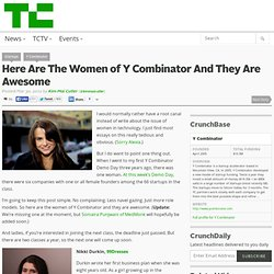 Here Are The Women of Y Combinator And They Are Awesome