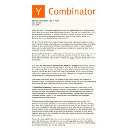 Y Combinator: Startup Ideas We'd Like to Fund