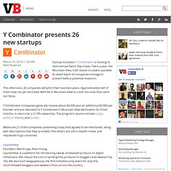 Y Combinator presents 26 new startups
