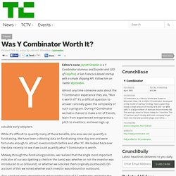 Was Y Combinator Worth It?
