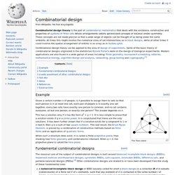 combinatorial design