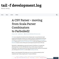 A CSV Parser – moving from Scala Parser Combinators to Parboiled2