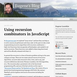Eugene's Blog - Using recursion combinators in JavaScript - Vimperator