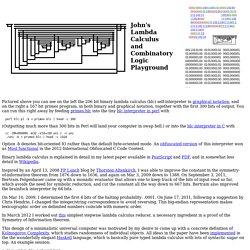 John's Combinatory Logic Playground