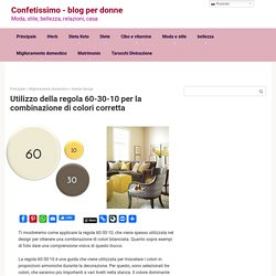 Usando la regola 60-30-10 per la giusta combinazione di colori - Confetissimo - blog femminile