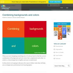 How to combine backgrounds and colors