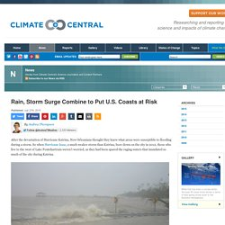 Rain, Storm Surge Combine to Put U.S. Coasts at Risk