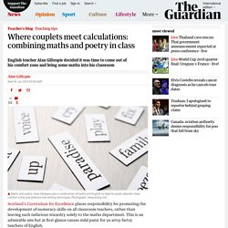 How to combine maths and poetry in your class