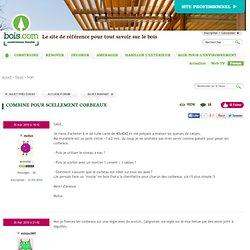 Forum www.bois.com : Combine pour scellement corbeaux