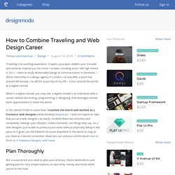 How to Combine Traveling and Web Design Career - Designmodo