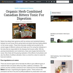 Organic Herb Combined Canadian Bitters Tonic For Digestion