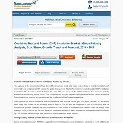 Combined Heat and Power Installation Market - Industry Analysis, Forecast 2024