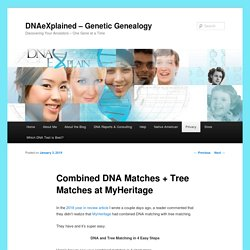 Combined DNA Matches + Tree Matches at MyHeritage