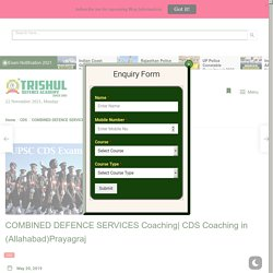 Combined Defence Services Coaching