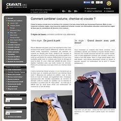 Combiner une cravate avec une chemise et un costume