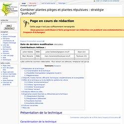 """Combiner plantes pièges et plantes répulsives : stratégie """"push-pull"""" - Agro-PEPS"""