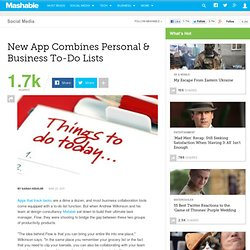 New App Combines Personal & Business To-Do Lists