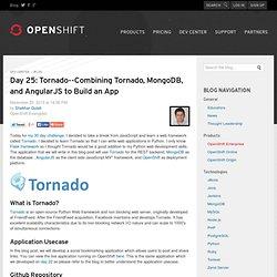 Combining Tornado, MongoDB, and AngularJS to Build an App