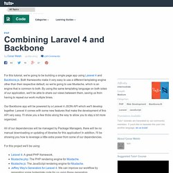 Combining Laravel 4 and Backbone