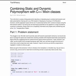 Combining Static and Dynamic Polymorphism with C++ Mixin classes