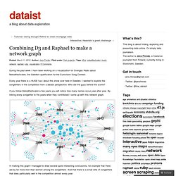 Combining D3 and Raphael to make a network graph « dataist