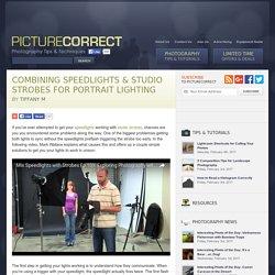 Combining Speedlights & Studio Strobes for Portrait Lighting