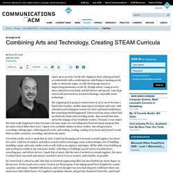 Combining Arts and Technology, Creating STEAM Curricula