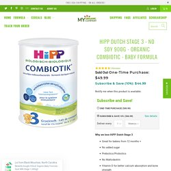 HiPP Dutch Stage 3 - NO SOY 900g - Organic Combiotic - Baby Formula - myorganiccompany
