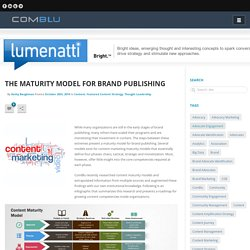 The Maturity Model for Brand Publishing - ComBlu