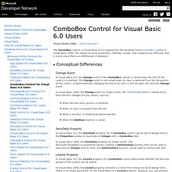 ComboBox Control for Visual Basic 6.0 Users