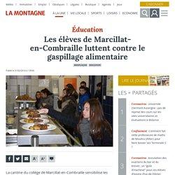 LA MONTAGNE 01/02/18 Éducation - Les élèves de Marcillat-en-Combraille luttent contre le gaspillage alimentaire