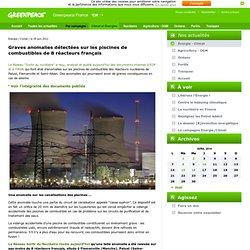 Graves anomalies détectées sur les piscines de combustibles de 8 réacteurs français