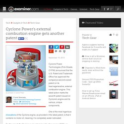 Cyclone Power's external combustion engine gets another patent - Detroit Automotive technology