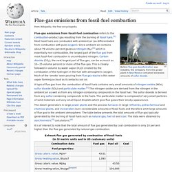Flue-gas emissions from fossil-fuel combustion